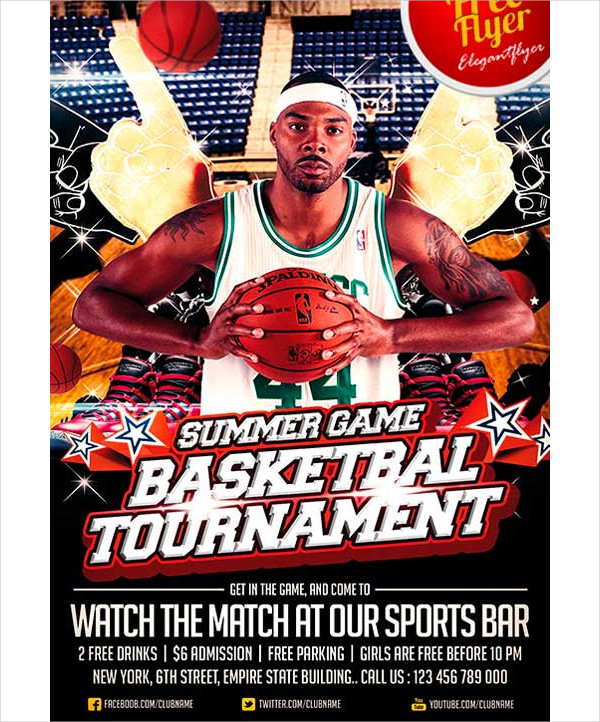 Free Sports Psd Templates: 31+ Basketball Flyer Templates