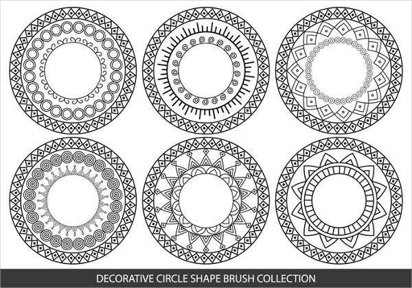 Free Decorative Circle Shape Brushes