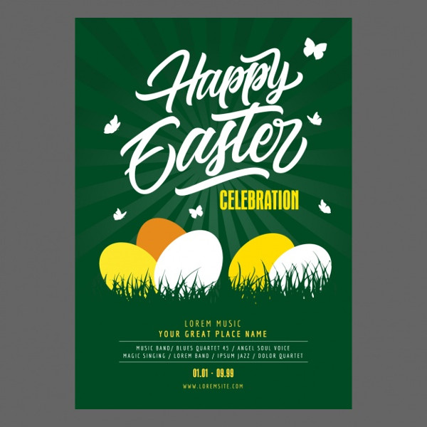 Free Download Easter Party PosterDesign