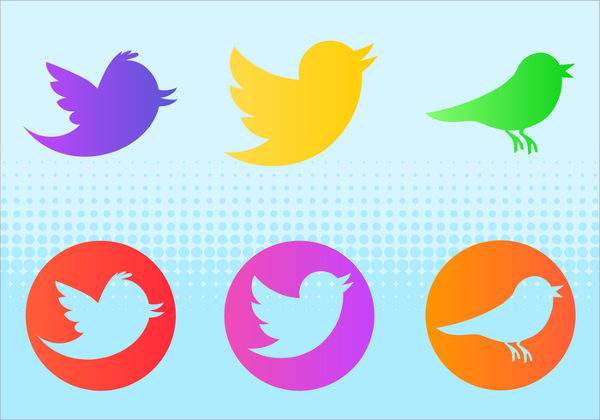 Free Download Twitter Birds Buttons