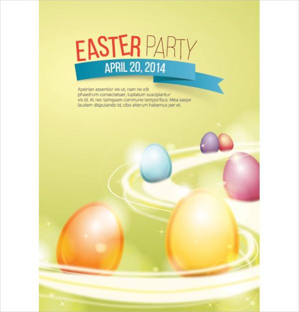 Free Easter Celebration Poster Background