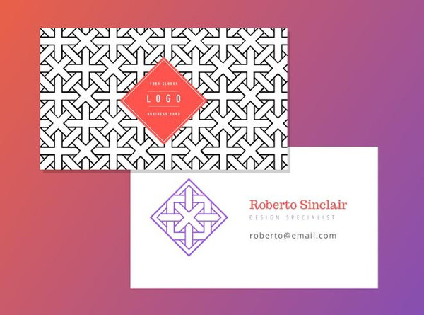 Free Geometric Business Card Vector Template