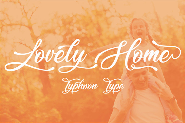 Free Lovely Home Tattoo Font