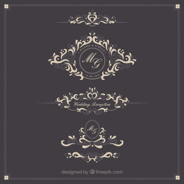 Free Ornamental Wedding Logo Templates