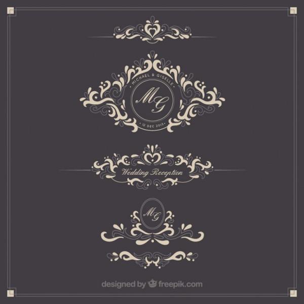 25 wedding logo templates free premium download