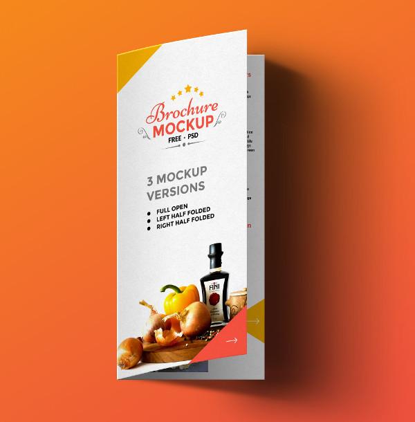 Free PSD Brochure Mock-Up Design