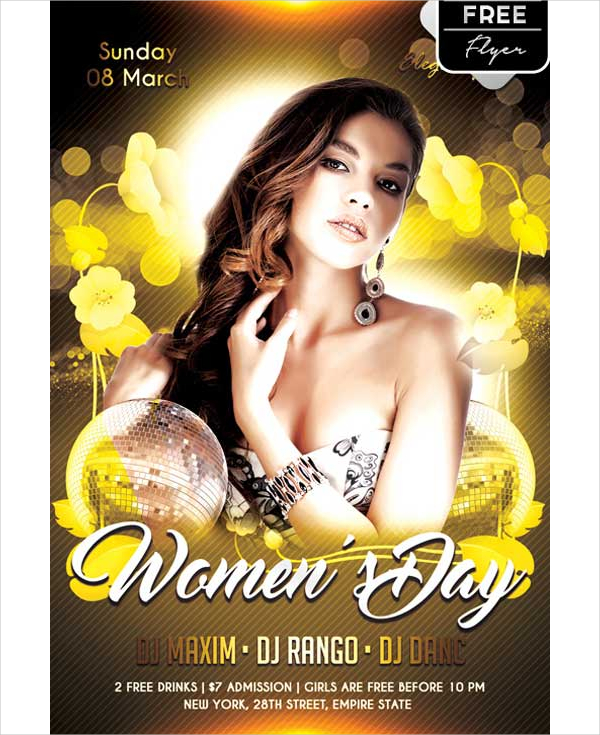 Women's Day Free PSD Flyer Template