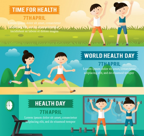 Free Set of Health Day Banners