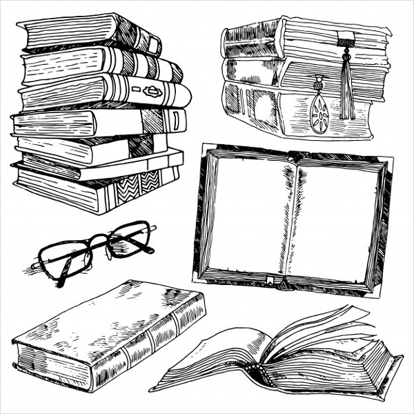 Free Sketch Icons of Library