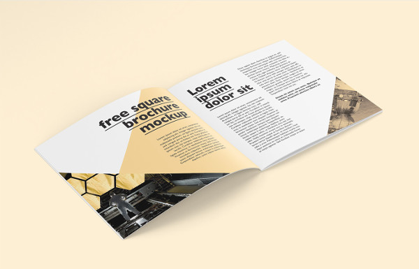Free Landscape Brochure Mock-Up Design