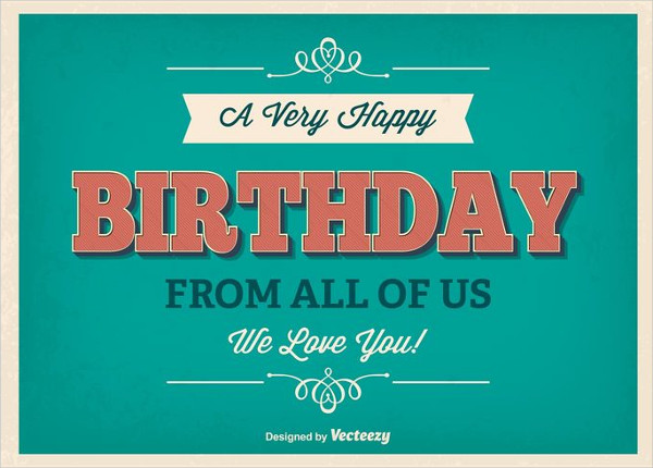Free Typographic Birthday Poster Template