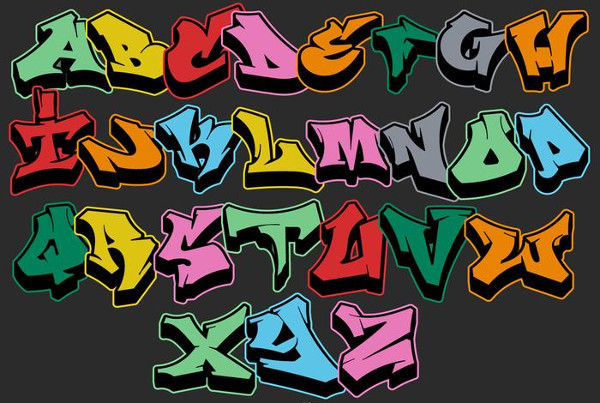 Free Vector Graffiti Alphabet Letters