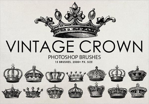 Free Vintage Crown Photoshop Brushes