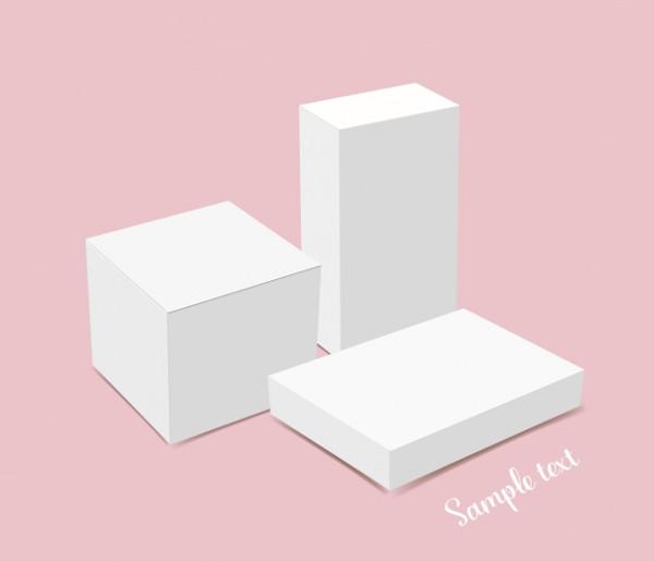 Free White Box Design Template