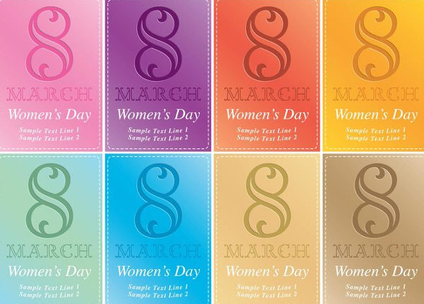 Free Women's Day Card Vector Invitations
