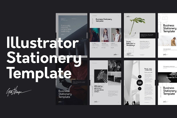 Fully Editable Illustrator Stationery Template