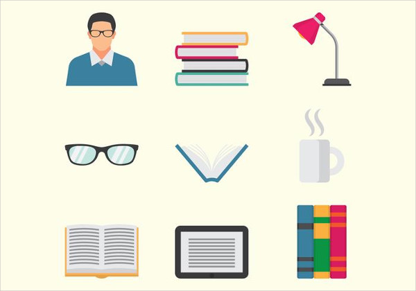 Fully Editable Library Icon Pack Free