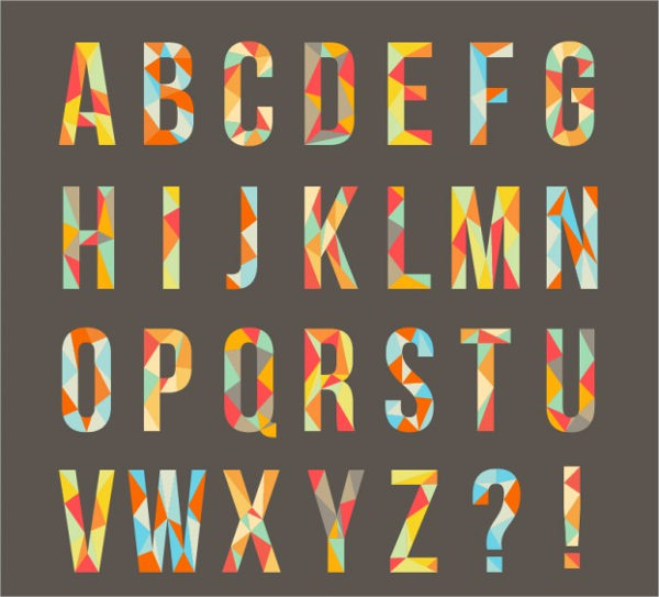 Free Download Geometrical Alphabet Upper Case Letter