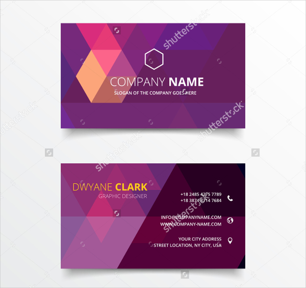 Geometrical Shape Business Card Vector Design