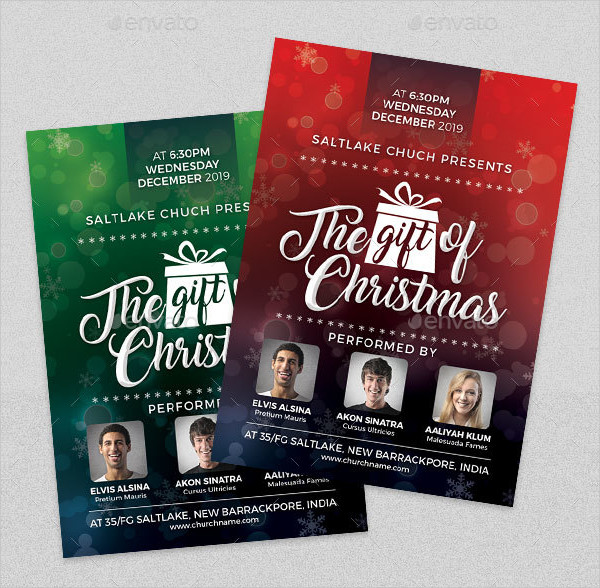 Gift of Christmas Church Event Flyer Template