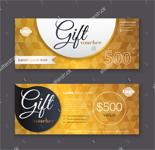 Gold Pattern Business Gift Certificate Template
