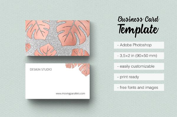 Gold Foil Marble Business Card Design