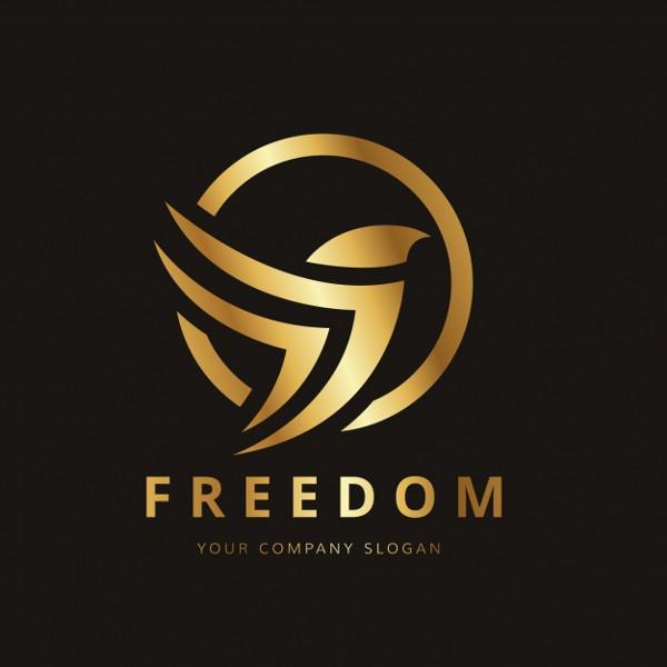 Golden Bird Logo Design Free Download