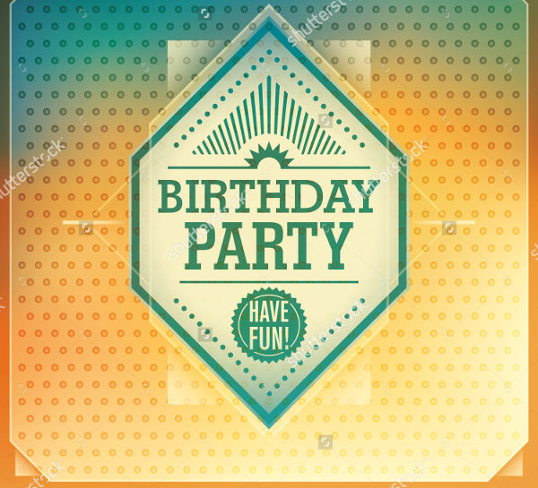 Attractive Birthday Party Invitation Card