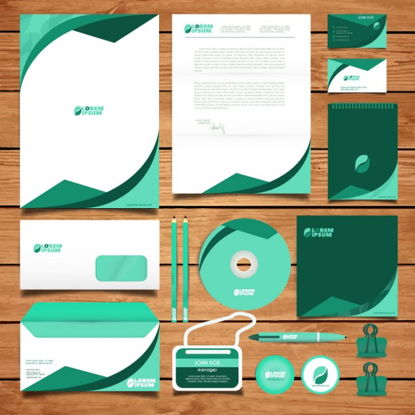 Corporate Green Identity Design Free