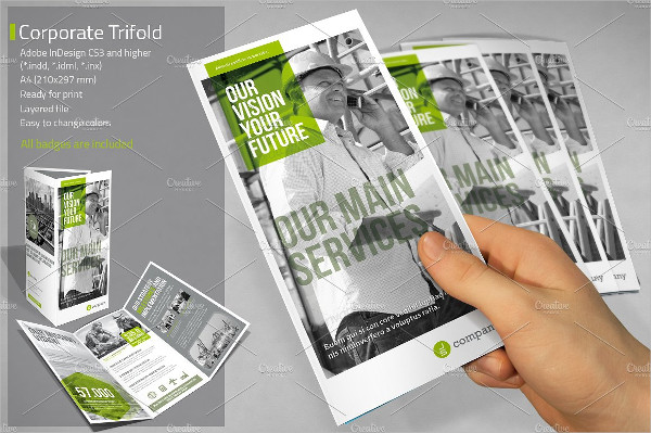 Ready to Print Trifold Brochure Template