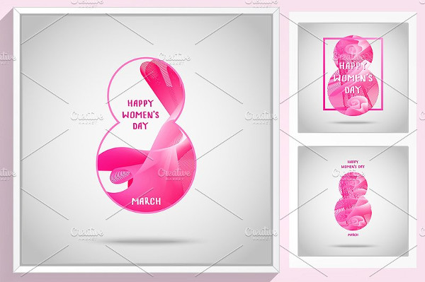 Greeting Card for International Women`s Day Vector