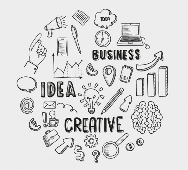 Hand Drawn Business Icons Free Download