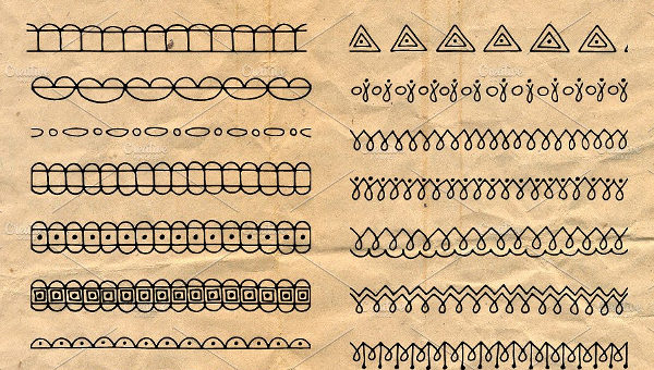 Hand Drawn Brushes of Triangles