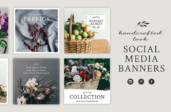 Handcrafted Social Media Banners