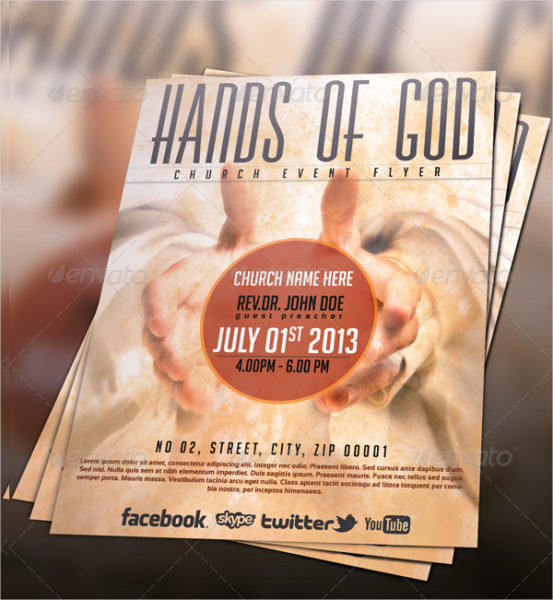 Hands of God Church Event Flyer Template
