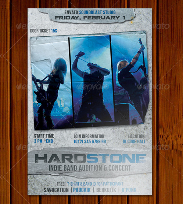 Hard Stone Audition & Concert Flyer Template