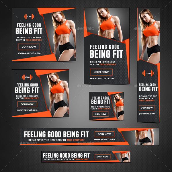 Unique Health & Fitness Banner Templates