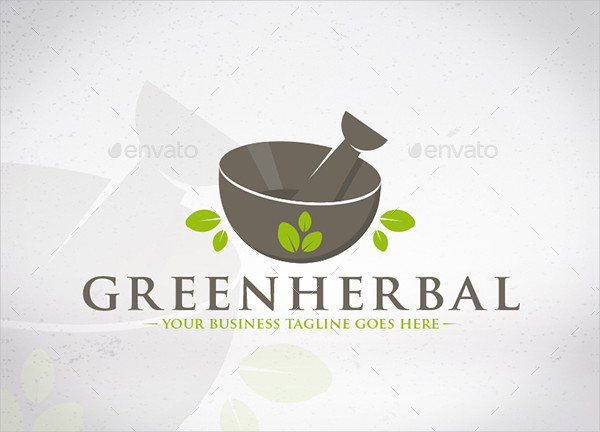 Herbal Green Business Logo Template