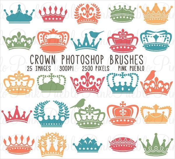 Hi Resolution Crown Photoshop Brushes