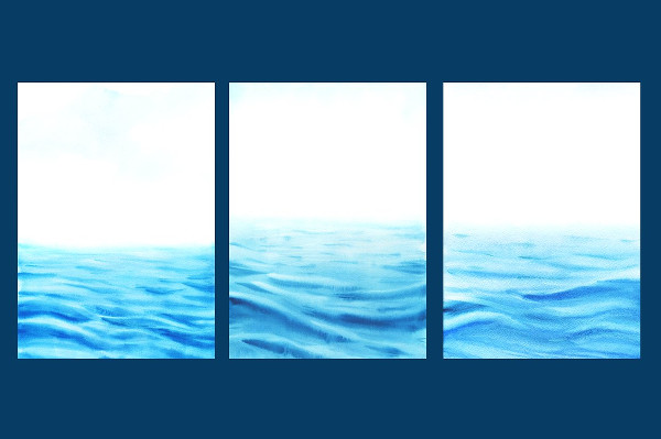 High Quality Watercolor Sea Textures