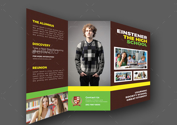 High School Trifold Brochures