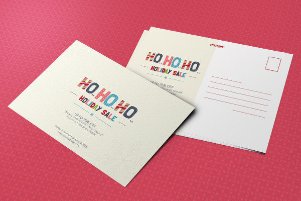 Best Holiday Sale Postcard Template