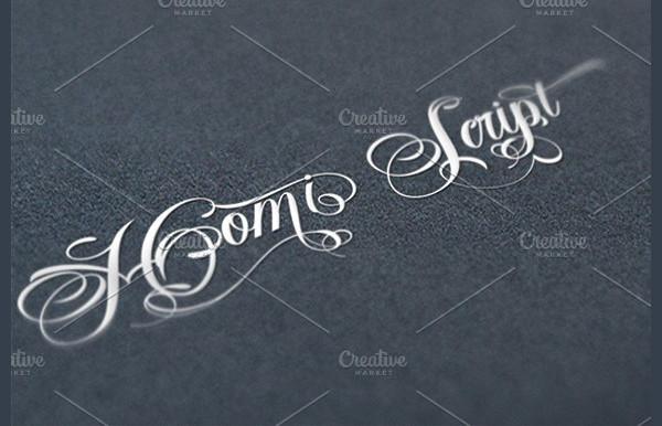 Homi Script Tattoo Font