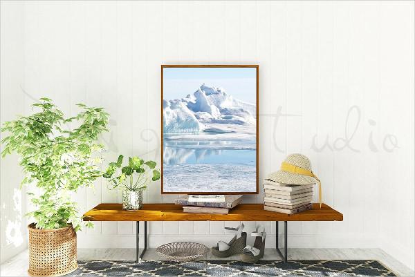 Vertical & Horizontal Wooden Frames Mockup