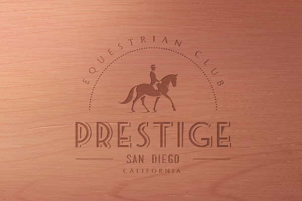 Horse Club Vintage Logo Template