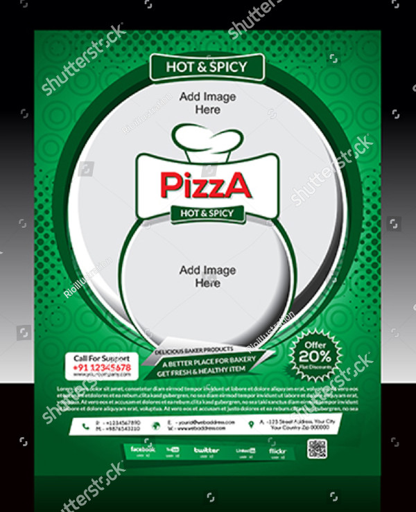 Hot & Spicy Pizza Store Flyers Design