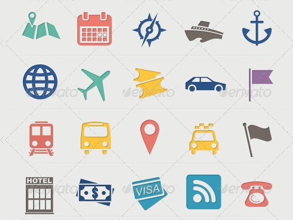 Hotel & Vacation Travel Icons