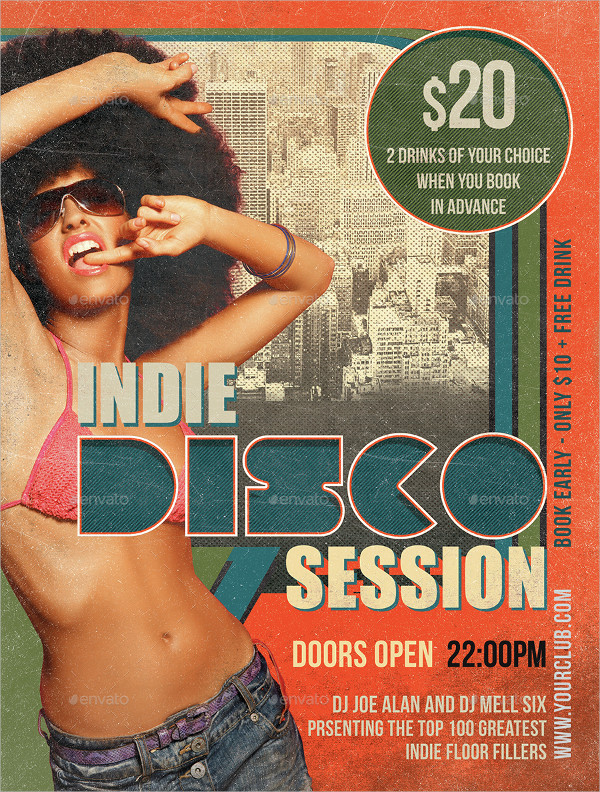 Indie Disco Session Flyer