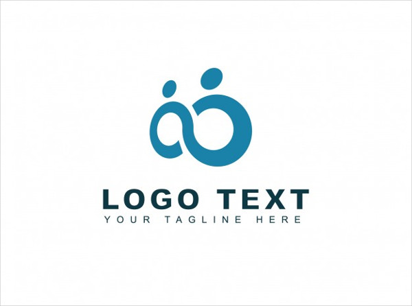 Infinity Couple Logo Free Vector
