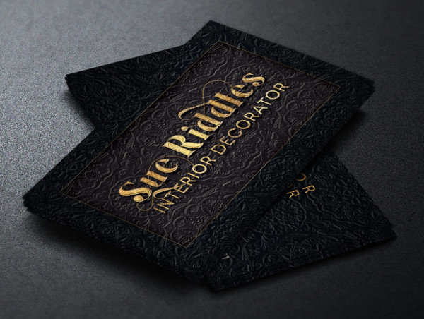 Interior Decorator Business Card Template